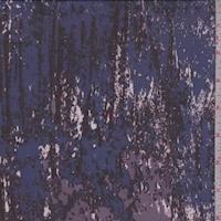 *1 YD PC--Maroon/Violet/Coral Granite Look Silk Chiffon