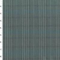 *2 5/8 YD PC--Black/Gray/White Tropical Wool Stripe Plaid Suiting