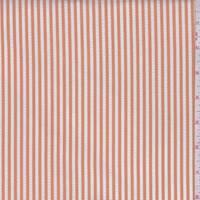 *3 YD PC--White/Dusty Orange Nylon Seersucker