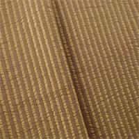 *2 YD PC--Walnut Brown/Beige Seersucker Stripe Drapery Fabric