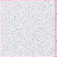 *2 YD PC--White Nylon Floral Lace