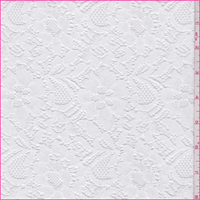*3 YD PC--White Nylon Floral Lace