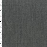 Faded Navy Wool Blend Stretch Denim Jacketing