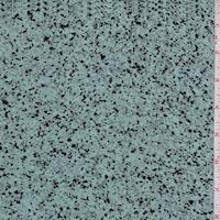 Blue/Black/Grey Speckle Silk Crepe de Chine