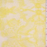 Lemon Lace Print Silk Crepe de Chine