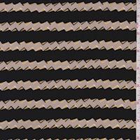 Grey/Black Small Zig Zag Silk Crepe de Chine