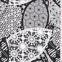 Onyx/Steel Kaleidescope Print Challis