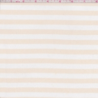 Golden Beige/White Stripe Jersey Knit