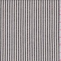 Ivory/Black Slate Stripe Crepe Suiting