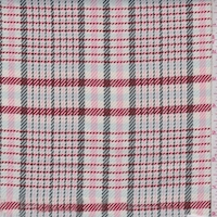 White/Pink/Moss Plaid Twill Suiting