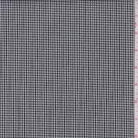 Black/White Textured Gingham