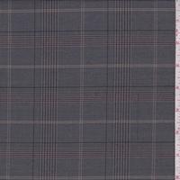 Nickel/Maroon Plaid Shirting
