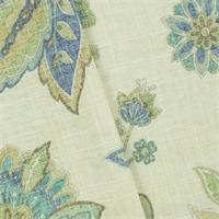 *4 1/8 YD PC--Ivory/Multi Covington Paisley Print Home Decorating Fabric