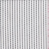 White/Black Dobbie Stripe Shirting