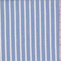 Chambray Blue/White Stripe Shirting