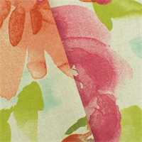 *5 YD PC--Pink/Multi P Kaufmann Floral Print Home Decorating Fabric