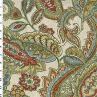 *3 YD PC--Beige/Multi Covington Paisley Floral Print Decorating Fabric