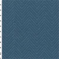 *1 5/8 YD PC--Indigo/Blue Chevron Jacquard Home Decorating Fabric