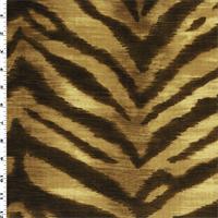 * 2 1/2 YD PC--Brown Beige Waverly Faux Velvet Zebra Print Decor Fabric