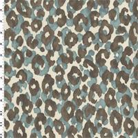 *2 1/2 YD PC--Blue/Ash P Kaufmann Cheetah Print Home Decorating Fabric