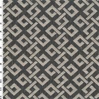 *3 5/8 YD PC--Gray/White Lattice Double Jacquard Home Decorating Fabric