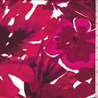 Ruby/Garnet/Pink Tropical Floral Swimwear