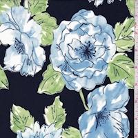 Deep Navy/Sky/Green Sketch Floral Swimwear