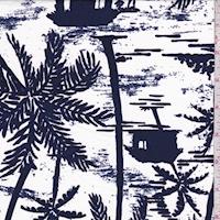 White/Dark Violet Hut Reversible Swimwear