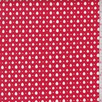Fire Red Lattice Deco Lace
