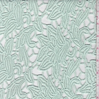 Minted Ice Stylized Floral Guipure Lace
