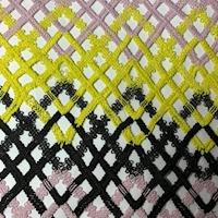 Pink/Black/Lemon Chevron Lace