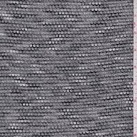 *4 YD PC--Black/Grey/White Sweater Knit