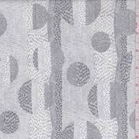 *3 YD PC--White/Grey Eclipse Print Cotton