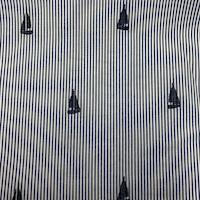 *3 3/8 YD PC--Navy/White Stripe/Yacht Cotton