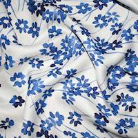 *4 1/2 YD PC--Ink Blue/White Floral Printed Lining
