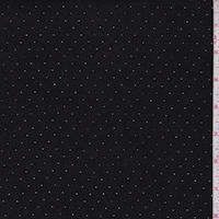 Black Laser Cut Pin Dot Crepe