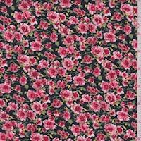 Black/Garnet Floral Garden Challis