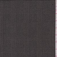 Tobacco/Black Glenplaid Wool Blend Flannel Suiting