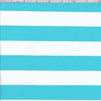 Turquoise/White Stripe Knit Activewear