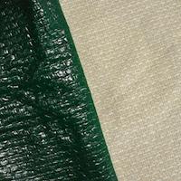 Forest Green Printed Beige Wool Blend Dobby Jacketing