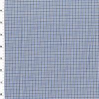 Blue/Navy/White Multi Woven Plaid Shirting