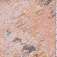 Apricot/Grey Diamond/Stripe Lawn