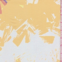 White/Gold/Berry Brushstroke Lawn