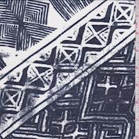 Ink/White Aztec Lawn