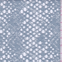 Grey Blue Corded Lace