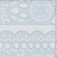 Light Blue Smoke Floral Deco Mesh Lace