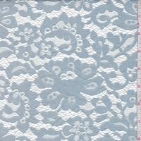 Powder Blue Floral Lace