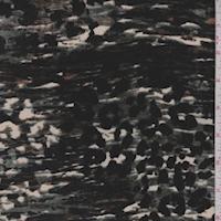 Jade/Beige/Black Camo Burnout Panne Velvet