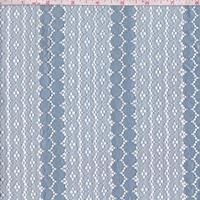 Light Blue Floral/Circular Stripe Lace