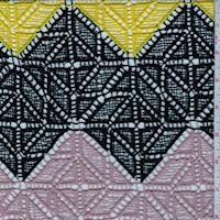 Canary/Mauve/Black Zig Zag Crochet Lace